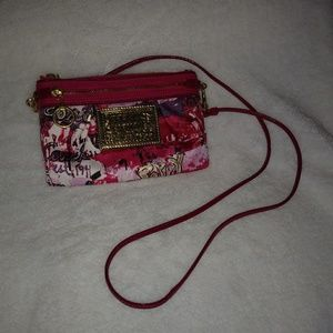 Coach small poppy crossbody pink